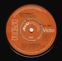 ELVIS PRESLEY Blue Moon EP Vinyl Record 7 Inch RCA Victor 1975